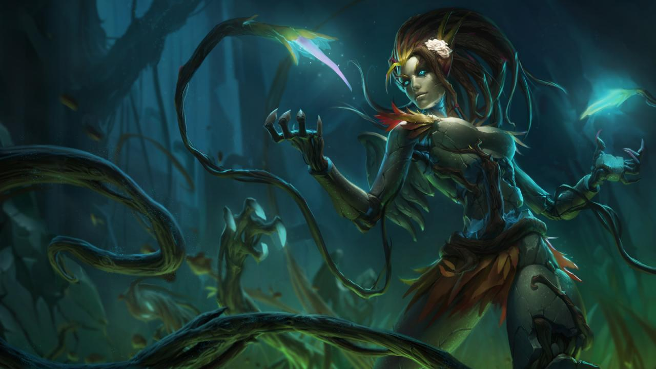 Haunted Zyra blooms in the Zyra League Of Legends